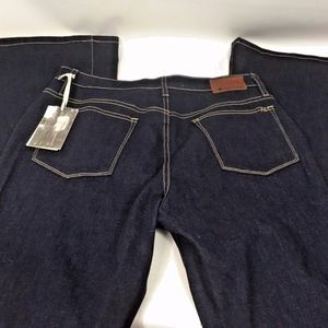 Womens Vintage High Rise Dark Wash Flare Jeans NWT